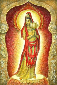 Kuan Yin Lotus (Print) by Sue Halstenberg