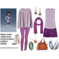 Miles from Tomorrowland Inspired Outfit by CharleneChronicles by charlenechronicles on Polyvore featuring Chicnova Fashion, Oasis, Emilio Pucci, Paige Denim, Dear Frances, Keds, Chloé, IaM by Ileana Makri, Hermès and American Vintage