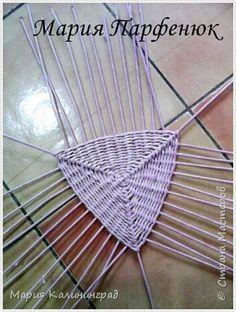 Мастер-класс Поделка изделие Плетение Мастер - класс квадратное дно от центра Бумага газетная Трубочки бумажные фото 23