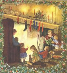 """Tasha Tudor. An illustration of hers from """"The night before Christmas."""""""