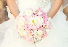 Pink and White Bouquet // photo: Spink Studio // Feature: TheKnot.com