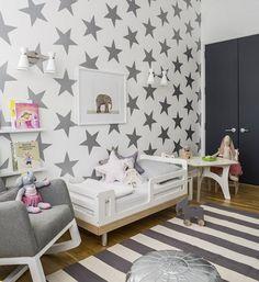 Grises y blancos para una habitación compartida
