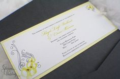 Yellow Orchids Wedding Invitations by SDezigns