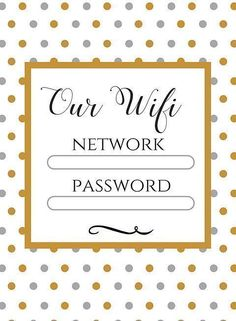Free Wifi information printable for you and your guests - The little thins - Event planning, Personal celebration, Hosting occasions Watercolor Business Cards, Wifi Password, Invitation, Host A Party, Guest Bedrooms, Free Wifi, Organization Hacks, Organizing Ideas, Getting Organized