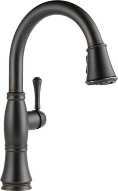 Delta Faucet 9197-RB-DST Cassidy, Single Handle Pull-Down Kitchen Faucet with Magnetic Docking, Venetian Bronze