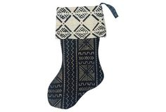 African    Mudcloth Christmas Stocking