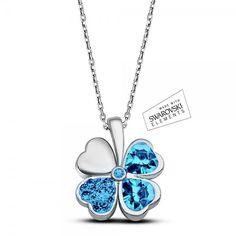 Özel Alaşım Kolye - Mavi çiçekli özel alaşım kolye