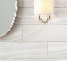 Navarro Beige Wood Plank Porcelain Tile - 10 x 47 - 100294875 | Floor and Decor Marble Mosaic, Stone Mosaic, Mosaic Glass, Carrara Marble, Marble Art, Vinyl Tiles, Ceramic Wall Tiles, Tile Wood, Stone Look Tile