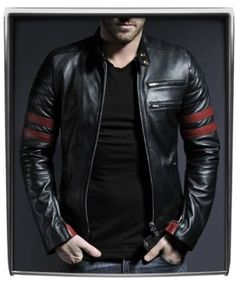 Ms Men's Leather Jackets Style Casual Slim Fit Biker Leather ...