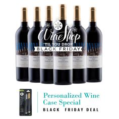 Black Friday Special: Purchase ANY Case of Personalized Wine and receive a set of Bottle Writing Pens! (While supplies last.) #personalizedwine http://wsah.org/3kh7