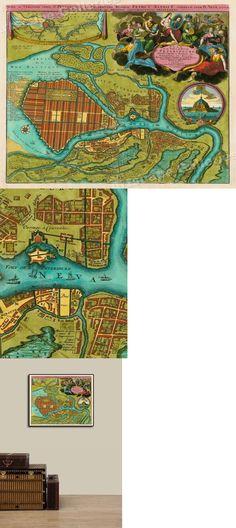 "1620s ""Irlandia Regnum"" Ireland Vintage Style Irish History Map 16x20"