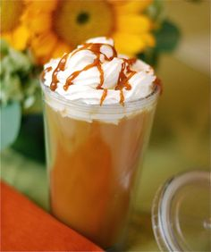 As a former barista, I can say this is one of their easiest drinks to replicate. Starbucks uses regular apple juice and adds cinnamon syrup. Of course the caramel topping is a must. This is one of my favorite fall drinks as well!