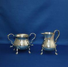 Vintage Authentic Williamsburg Restoration Stieff Pewter Creamer and… Sugar Bowls And Creamers, China Cups And Saucers, Cup And Saucer, Pewter, Tea Pots, Restoration, Cabinet, Antiques, Vintage