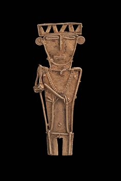 Male effigy cache figure, Muisca, A. 1100 - Place of Origin, Departments of Cundinamarca & Boyacá, Colombia Spear Thrower, Vikings, Ancient Words, Cave Drawings, Early Modern Period, Effigy, Gourd Art, Ancient Jewelry, Male Figure