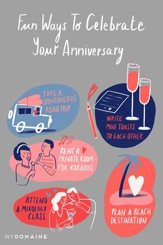 Buh-bye, boring date ideas. Here are 34 fun things to do on your anniversary instead. Love Dating, This Is Love, Destin Beach, Married Life, Karaoke, Things To Do, Road Trip, Anniversary, Romantic