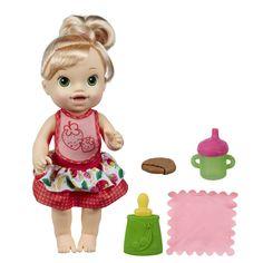 Boneca Baby Alive - Meu Lanchinho Loira da Hasbro! Essa Baby Alive está com…