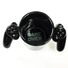 Game Over Video Game C3ontroller Ceramic Mug | Gamer Coffee Mugs | RetroPlanet.com