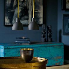 Color combination and mixture of old and new make this a very inviting space. Modern light fixtures are Toldbod 120 pendant lamps by Louis Poulsen Dark Interiors, Colorful Interiors, Industrial Interiors, Wabi Sabi, Color Inspiration, Interior Inspiration, Interior Ideas, Rue Verte, Deco Boheme