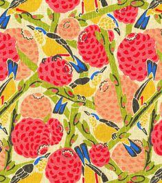 Home Decor Print Fabric- HGTV Home So Fly Guava