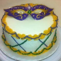 Mardi Gras cake Mardi Gras Food, Mardi Gras Beads, Mardi Gras Party, Masquerade Cakes, Masquerade Wedding, Mardi Grad, Big Party, Grad Parties, Cake Cookies