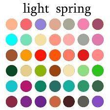 pure spring color palette clear spring clear spring color palette