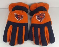 Youth Chicago Bears Fleece Thinsualte Winter Gloves