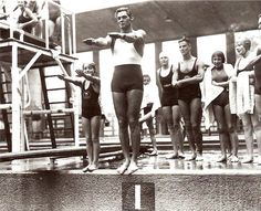 Johnny Weissmuller - picked up his fifth and final Olympic gold in 1928. He then signed a contract with MGM and became the most famous Tarzan, the first with the ululating yell. It was played three times as his coffin was lowered into the ground in 1984, at Weissmuller's request. 1928/Amsterdam.