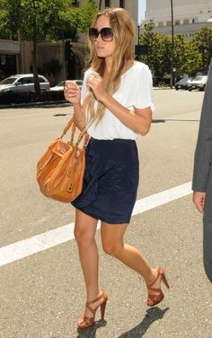 Lauren Conrad, navy + white