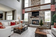 This family room has plenty of space. (Toll Brothers at Tanglewood Hills, IL)