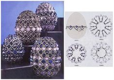 eggs in beads could also be used for covering Christmas Ornaments