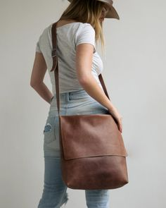 Mayko Basic | Leather Satchel l Cinnamon leather  * Italian leather * Stylist Design * Different Colors / 3 Color options / see options at last photo * Perfect bag for Daily Use! * Big enough to Carry a 15 Laptop * Very comfortable & Light * Great as a School Bag * Fast & easy to Clean * Fair price * Can be the perfect Gift for You or for Your Loved ones♥  <<< Bag Feature - Adjustable shoulder strap - Crossbody - One Large & spacious compartment - Unlined  - Height : 34 Cm / 13 - Width Top…