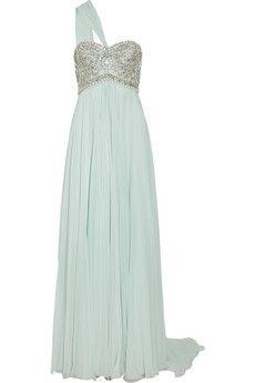 Embellished silk-chiffon gown... oh Marchesa <3