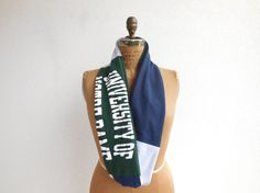 University of Notre Dame T Shirt Scarf / Hunter Green by ohzie
