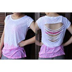 Como Customizar Camisetas com recorte nas costas