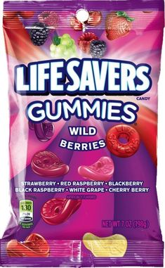 All time favorite candy! Lifesaver Candy, Buy Edibles Online, Red Raspberry, Wild Strawberries, Favorite Candy, Life Savers, Candy Recipes, Junk Food, Sweet Tooth