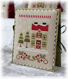 Christmas Tree Farm (available from Country Cottage Needleworks). Quilt Stitching, Cross Stitching, Cross Stitch Embroidery, Cross Stitch House, Xmas Cross Stitch, Cross Stitch Designs, Cross Stitch Patterns, Country Cottage Needleworks, Cross Stitch Tutorial