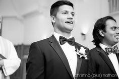 Calgary wedding photographers: A combination Hindu Wedding and church wedding with a reception at Hyatt Regency in downtown Calgary. Groom Reaction, Indian Wedding Photography, Church Wedding, Calgary, Regency