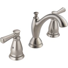 Delta Faucet 3593-SSMPU-DST Linden Stainless Two Handle Widespread Bathroom Faucets  | eFaucets.com