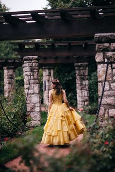 #beautyandthebeast Disney Beauty And The Beast, Beauty And The Beast Costume, My Beauty, Belle Cosplay, Belle Costume, Yellow Ballgown, Belle Dress, Tale As Old As Time, Princess Belle