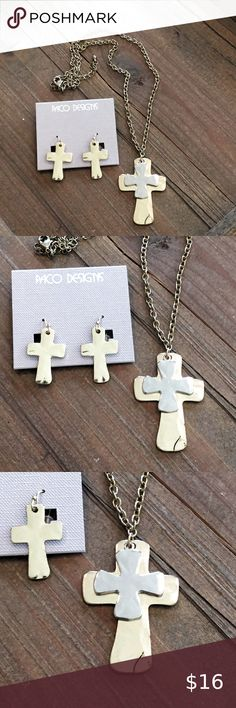 The Cross Collection 14 antique silver tone cross charms