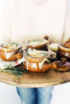 Homemade Smoked French Onion Soup perfect for a winter dinner party Waiting On Martha || Photography Kathryn McCrary  #summer #vibes #currentlycoveting