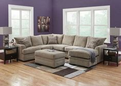 Platinum Gray 2 Pc. Sectional