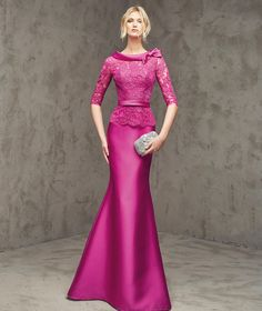 2016 Sexy Zuhair Murad Bow Scoop Neck Formal Evening Dresses Sexy V-back Long Sleeve Appliques Prom Gowns Custom Made Pink Bridesmaid Dresses, Prom Dresses, Formal Dresses, Wedding Dresses, Mermaid Evening Dresses, Evening Gowns, Bride Gowns, Groom Dress, The Dress