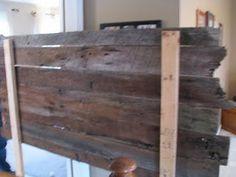 """barn-wood headboard idea """"how-to"""""""