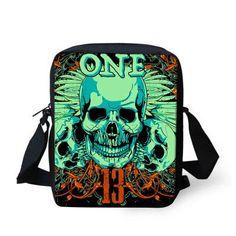 FORUDESIGNS Retro women messenger bags new designer ladies handbags punk skull printed mochila mujer rock femail crossbody bag
