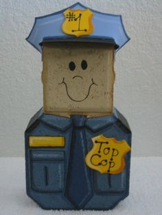 Mr Police Officer Patio Person by SunburstOutdoorDecor on Etsy