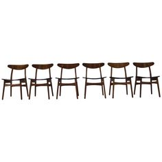 Carl Hansen CH 30 Dinner Chairs by Danish Designer Hans Wegner | From a unique collection of antique and modern dining room chairs at https://www.1stdibs.com/furniture/seating/dining-room-chairs/