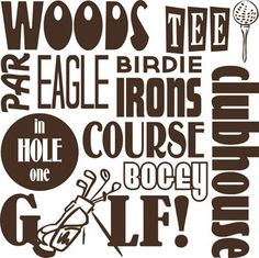 free golf subway art - Google Search