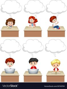 Students work on table vector image on VectorStock Frame Border Design, Page Borders Design, Kids Background, Cartoon Background, Preschool Learning Activities, Preschool Activities, Drawing For Kids, Art For Kids, Islamic Books For Kids