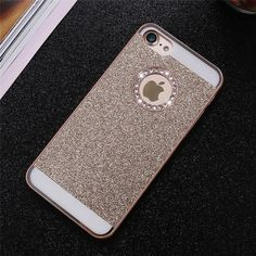 Luxury Bling Case For iPhone 5 5S SE 4 4S 6 6s Plus 7 7 Plus Case Shiny Powder Rhinestone Cover Coque Women Phone Capa